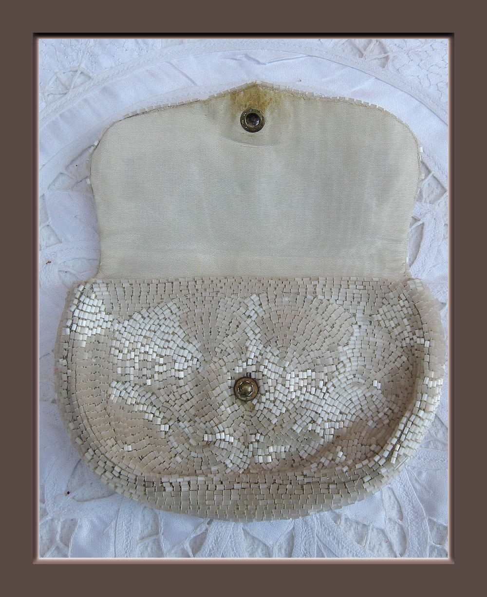Sac a main bourse minauriere de perles blanches belle for Fougere interieur